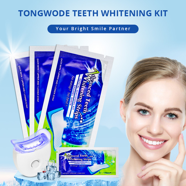 1 Piece Teeth Bleaching Accelerator 14 Pairs/Lot Tooth Whitening Gel Strip Remove Tooth Tartar Stains White Teeth Strips