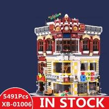 XINGBAO 01006 5491 шт. подлинной творческой MOC город серии игрушки и книжный магазин набор детей строительные блоки кирпичи игрушки модель gif