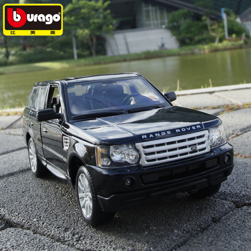 Bburago Range Rover 1:18 Scale Cars Model Alloy Toys Diecasts & Toy Vehicles Collection For Children Christmas gifts bburago 360 challengr 1 24 alloy car model toys diecasts