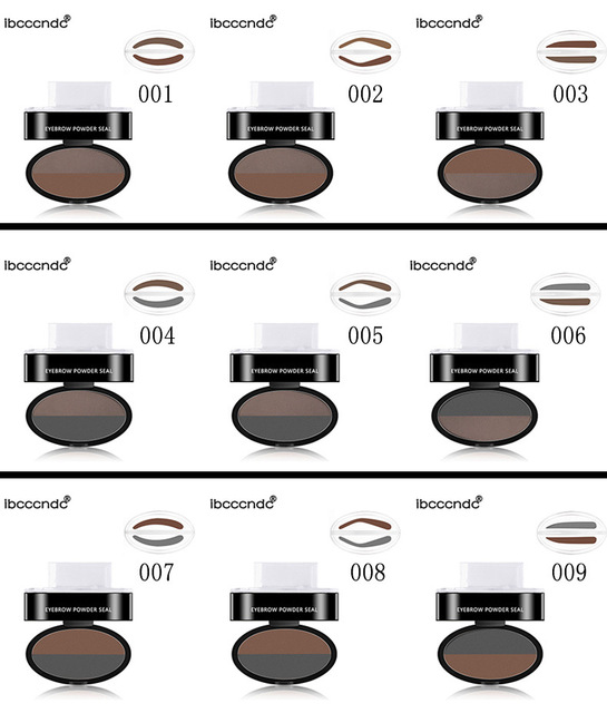Drop shipping Eyebrow Powder Seal Eyebrow Shadow Set Waterproof Eyebrow Stamp Natural Shape Brow Stamp Powder Palette Delicated 5