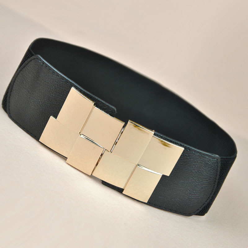 Wide Waist Belts |Big Elastic Buckle Belt
