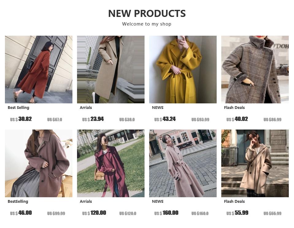women wool coat-fashion-long wool coat-female autumn-winter