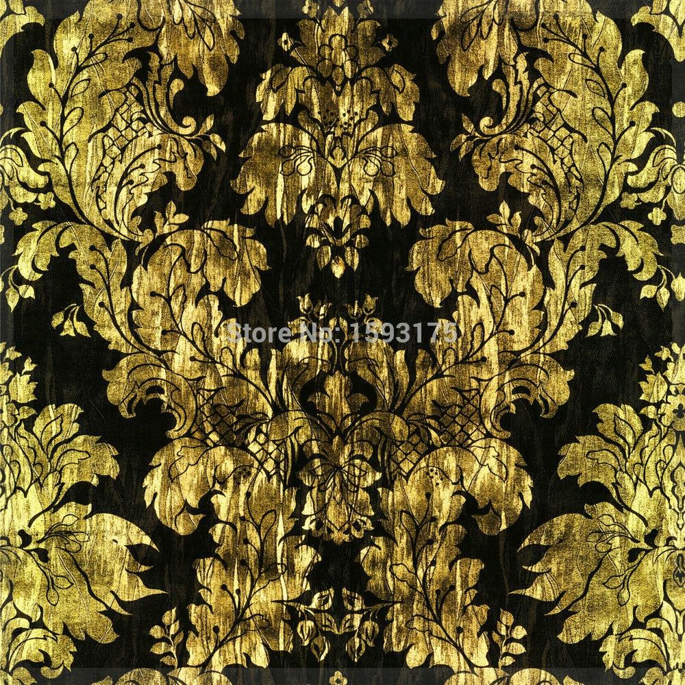 Group Of Gold Metallic Foil Wallpaper