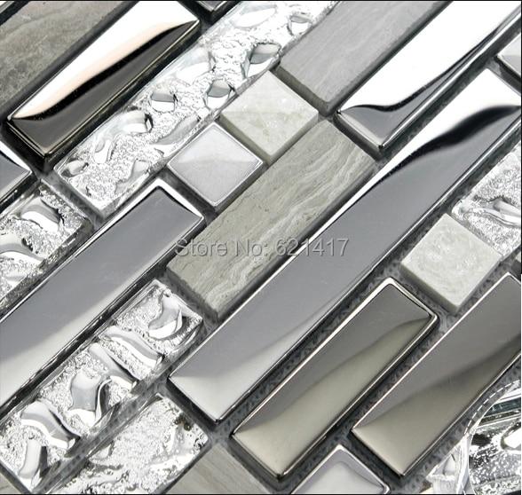 grey stone with stainless steel glass mosaic tiles hmgm1107 backsplash kitchen wall tile sticker bathroom floor