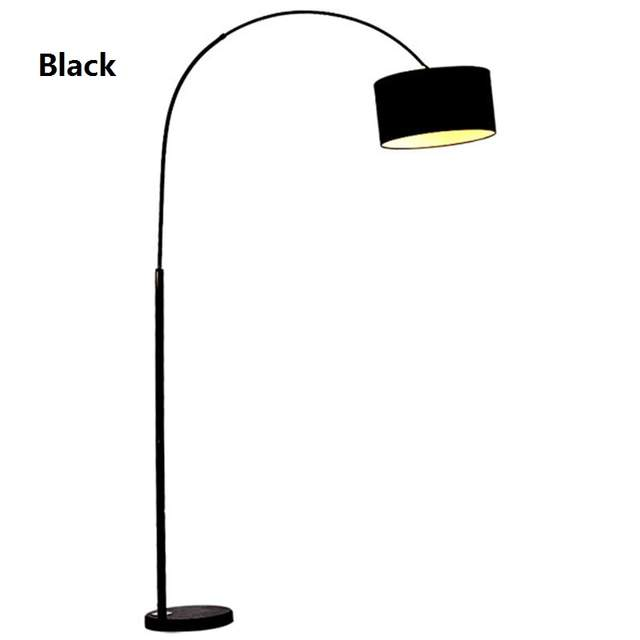 Black White Living Fishing Led Cloth Design Bedside Lambader Floor For Fashion Standing Bedroom Lamp Room Modern hsxtCrdQ