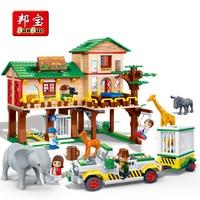 BanBao Building Blocks National Zoo Camp Safari Animal Bricks Educational Model Toys Kids Children Compatible With Legoe 6651