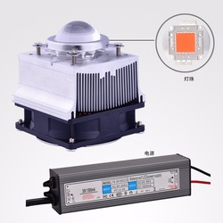 2018 neue DIY Hydrokultur led wachsen licht kit, uv-härtung system, 50 watt/100 w cob led + fahrer + kühlkörper + kühler + objektiv und reflektor