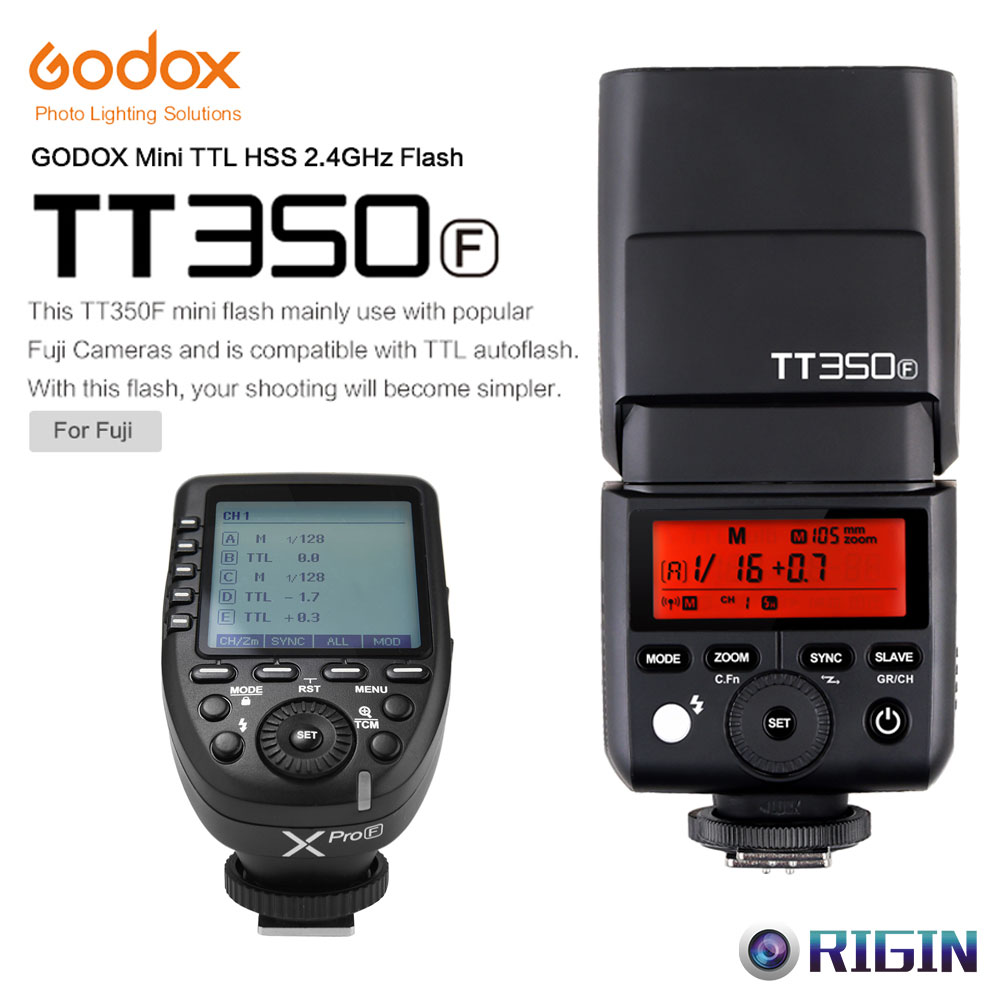 Godox Mini Speedlite TTL TT350F High Speed 1/8000s GN36+2.4G wireless Power Trigger Xpro-F Kit For Fuji yn e3 rt ttl radio trigger speedlite transmitter as st e3 rt for canon 600ex rt new arrival