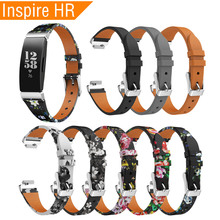 Leather Wrist Strap For Fitbit Inspire/Inspire HR Band Smart Watch Bracelet Replacement for Inspire Accessories