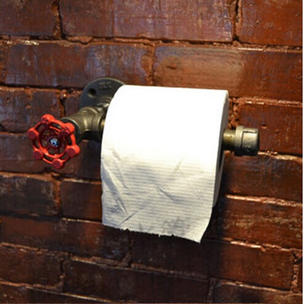 Toilet Paper Holder Industrial Pipe Style Accessories Bathroom And Kitchen Bathroom Hardware Paper Holders