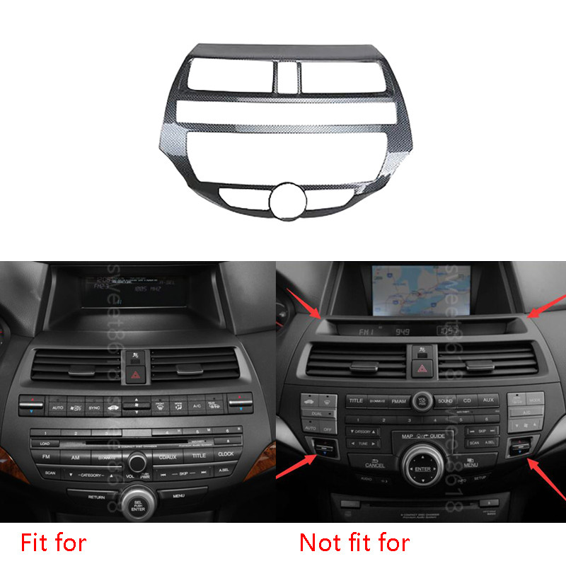 Car Interior Mouldings Carbon Fiber Color Console Center Dashboard Panel Sticker For Honda Accord 2008-2012 Car Styling Covers