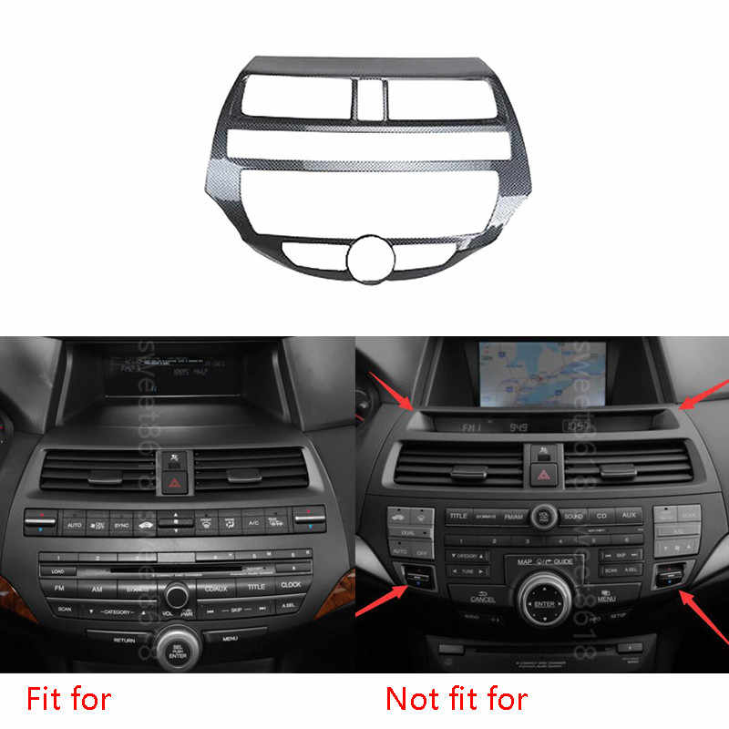 Auto Interieur Mouldings Carbon Fiber Kleur Console Center Dashboard Panel Sticker Voor Honda Accord 2008-2012 Auto Styling Covers