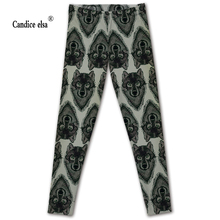 Sexy Hot sale new arrival Novelty 3D printed fashion Women leggings space wolf leggins tie dye fitness pant free shipping