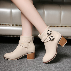 Autumn and winter women shoes vintage europe star fashion women high heels ankle boots snow short.jpg 250x250