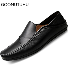 2019 new style men's shoes casual genuine leather loafers male white black slip on shoe man flat driving shoes for men hot sale hot 2016 spring new brand men s shoes british style breathable men casual shoes black and white slip on man leather pu shoes