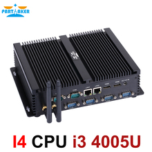 Fanless Mini PC i3 5005U/i3 4010U/i3 4005U Industrial Computer 24 Hours Working 6 COM 2 HDMI Dual Display 300M Wifi 4K HD HTPC