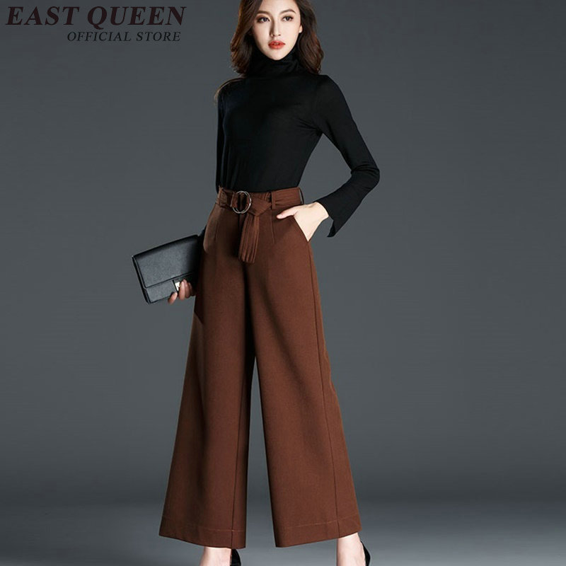 Wide     leg     pants   laides high waist   wide     leg     pants   trousers ladies business office elegant baggy   pants   AA2981 Y