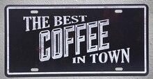 1 pc Coffee Italian cappuccino doppio americano  plaques shop store Tin Plates Signs wall Decoration Metal Art Vintage Poster