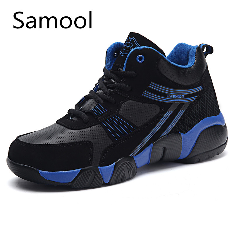 Samool Winter New Men Gym Shoes Luxury Brand Mens Fashion 2017 Height Increasing Leather Casual Shoes Warm Outdoors For Men zxz5