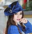 Элегантная женская шляпка, выполненная  в двух цветах, ручная работа, материал - войлок из натуральной шерсти