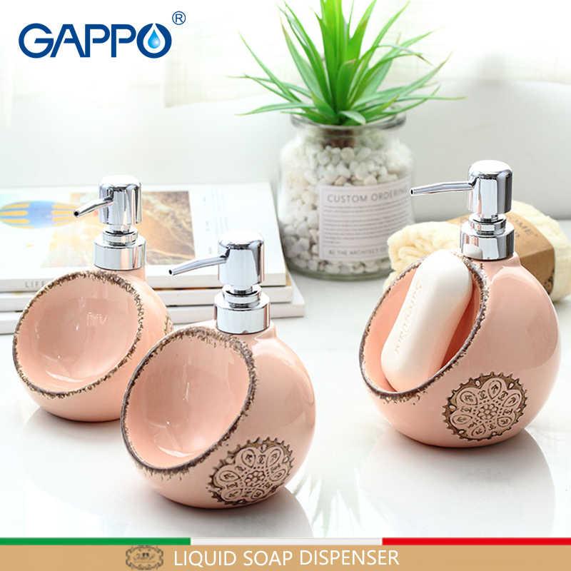 GAPPO mydło w płynie dozownik wc ceramiczna prysznic dozowniki w płynie łazienka prysznic butelki pojemniki dozowniki szczotkowane