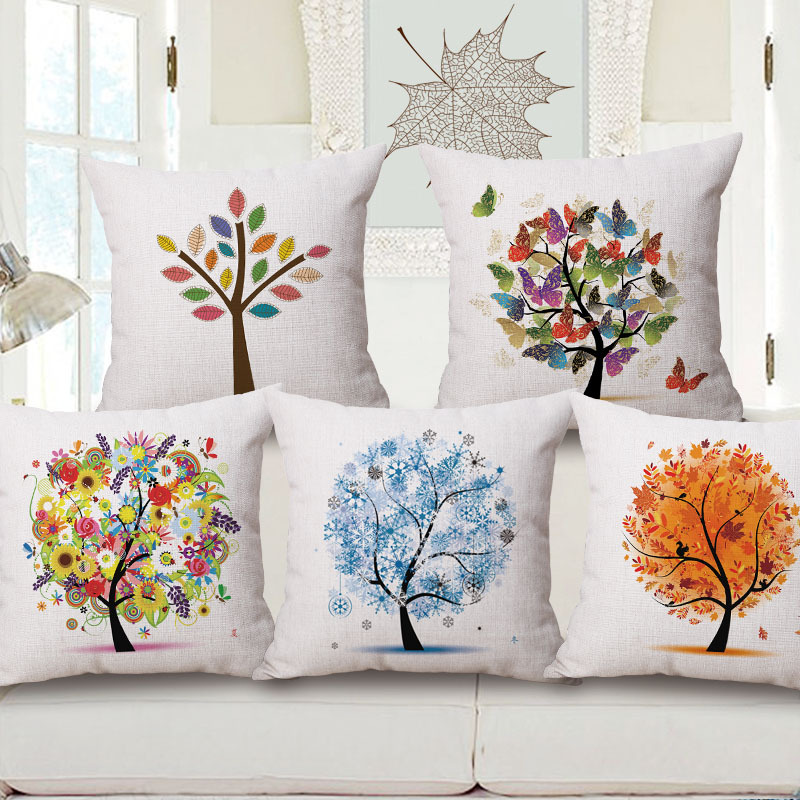 African plant tree of life one side printing home decor sofa car seat decorative cushion cover - Hacer cojines sofa ...