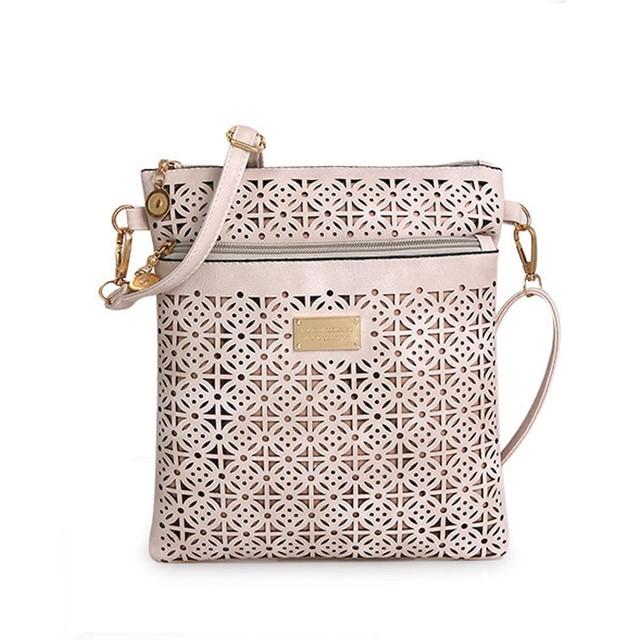 b963c8982 2017 Small Casual women messenger bags PU Leather hollow out crossbody bags  ladies shoulder purse and handbags bolsas feminina