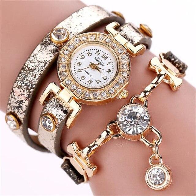 Duoya WatchHot relogio feminino Clock fashion luxury crystal pendant women watches women bracelet watch women wristwatches