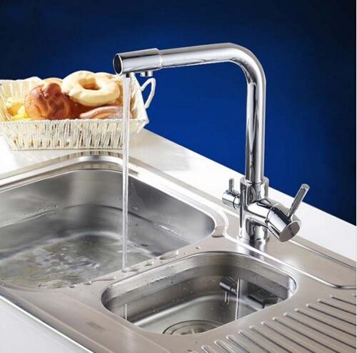 High Quality Kitchen Faucet Sink Brass Mixer Tap Swivel Single Handle Sink Faucet Kitchen Mixer Chrome