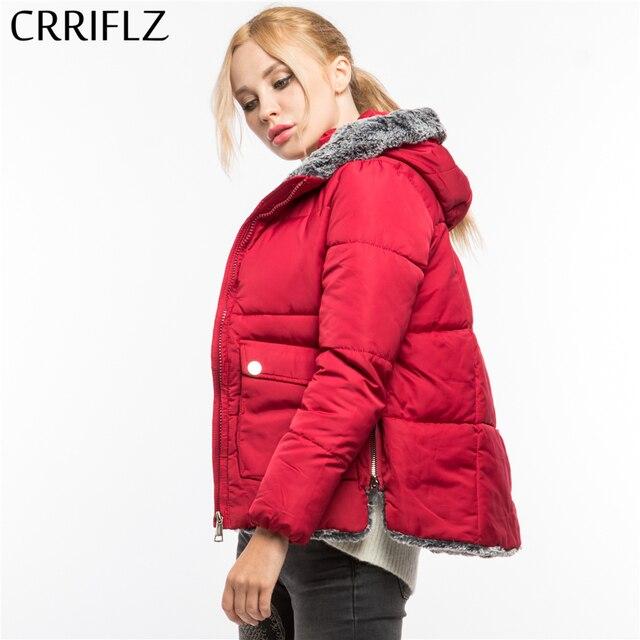 cd4ee49162 CRRIFLZ Winter Clearance Short Faux Fur Jacket Coat Fashion Warm Winter  Jacket Women Hooded Coat Parkas Female Jacket Outerwear