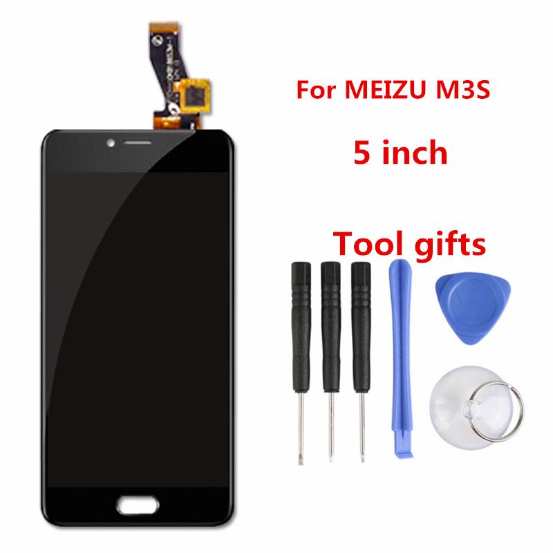 Atten for MEIZU M3S Mini LCD Display Screen Touch Screen Digitizer Glass Panel Meilan 3S Mobile Phone Replacement Assembly