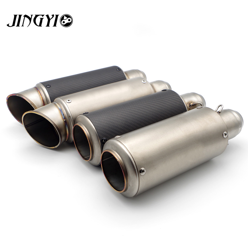 51/61mm Universal Stainless Steel Motorcycle Exhaust Pipe Muffler loud silencieux escape moto FOR Kawasaki ZRX1100 ZRX1200 ZZR