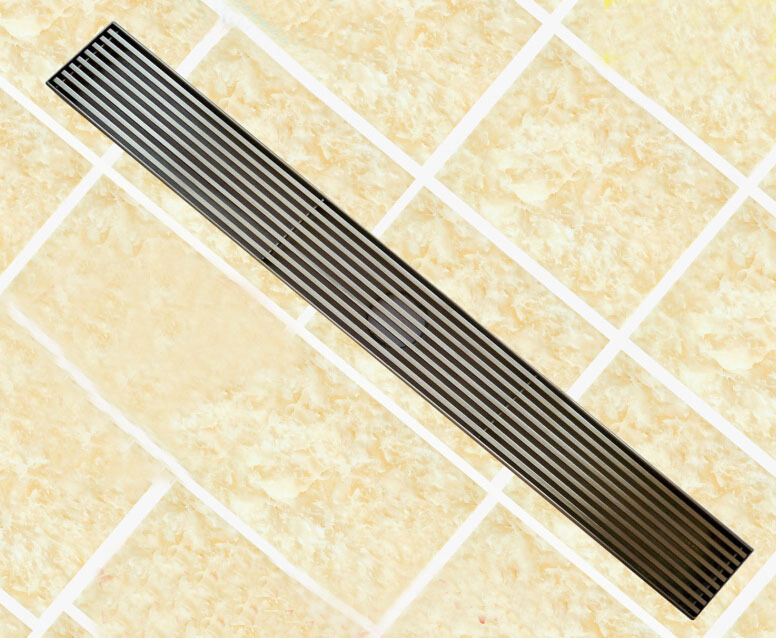 Free shipping 304 stainless steel 60cm linear anti-odor floor drain bathroom hardware 600mm invisible shower floor drain 11-202