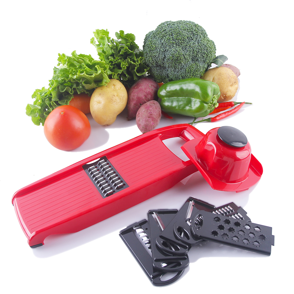 LEKOCH 6 Piece Blades Mandoline Slicer + 1 Julienne Peeler Vegetable Slicer Fruit Vegetable Tools Kitchen Accessories
