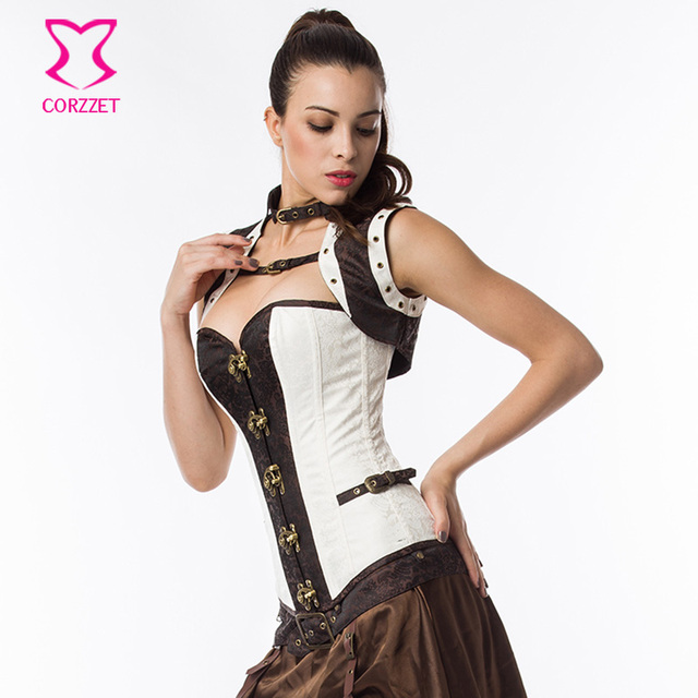 e52c88bcc3 Sexy Women Steampunk Corset Gothic Clothing Steel Boned Bustiers Vintage  Sexy Burlesque Costumes Plus Size Waist Trainer