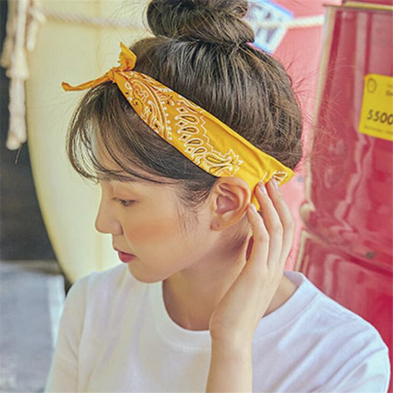 Headband Hair-Accessories Sporty Vintage Women Girls Bow Summer Cotton Turban Red Knot