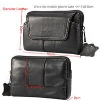 Holster Belt Clip Mobile Phone Genuine Leather Case Pouch For Xiaomi Mi 5 5s Plus Redmi