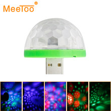 Mini RGB Kristall Magic Ball Effekt Licht Auto Rotierenden Lampen Lampe LED Disco Ball Party KTV Disco DJ Party Lichter mit USB Stecker(China)