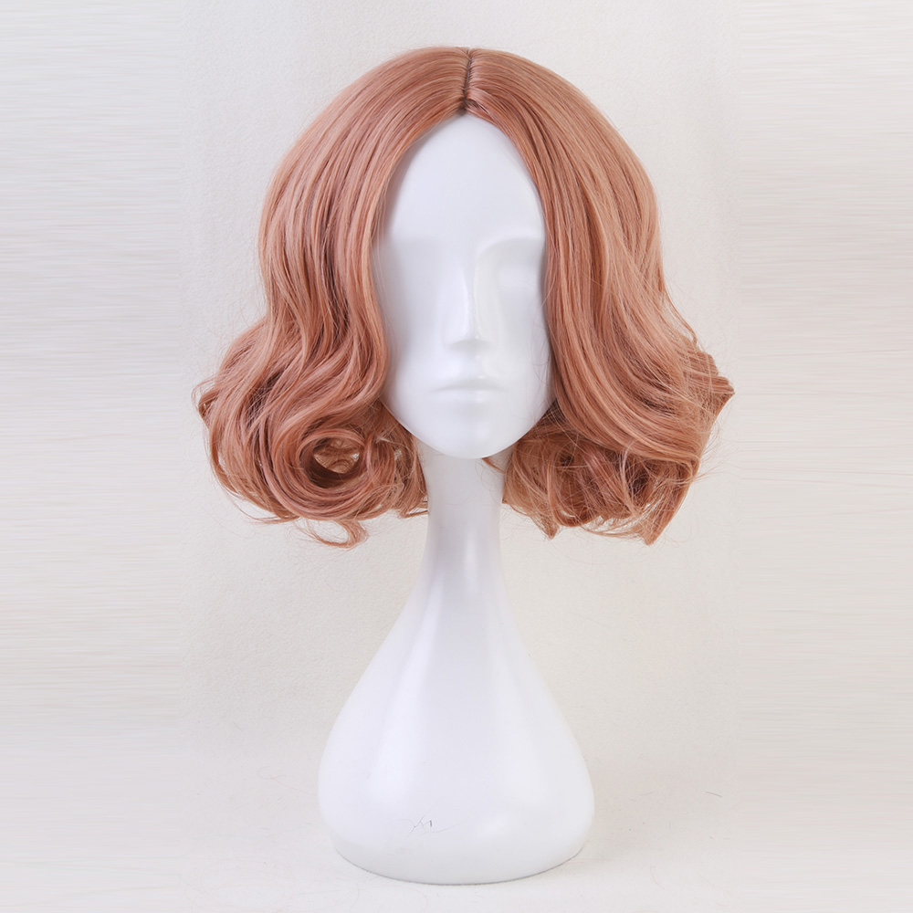 Synthetic Wigs Reasonable Anime 40cm Mixed Orange Medium Curly Bob Style Heat Resistant Cosplay Full Wig H762317 To Adopt Advanced Technology