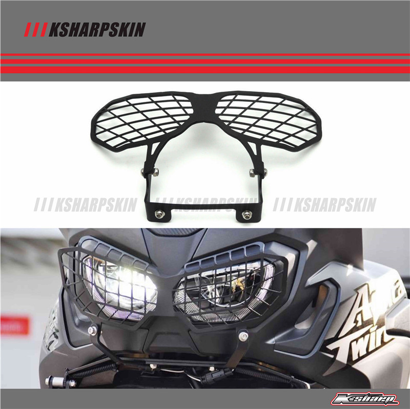 Motorcycle Accessories Headlight Grille Guard Cover For Honda CRF1000L CRF1000 L africa twin Headlight Guard Protector mtkracing motorcycle accessories headlight grille guard cover for honda cb500x cb 500x 2016 2017