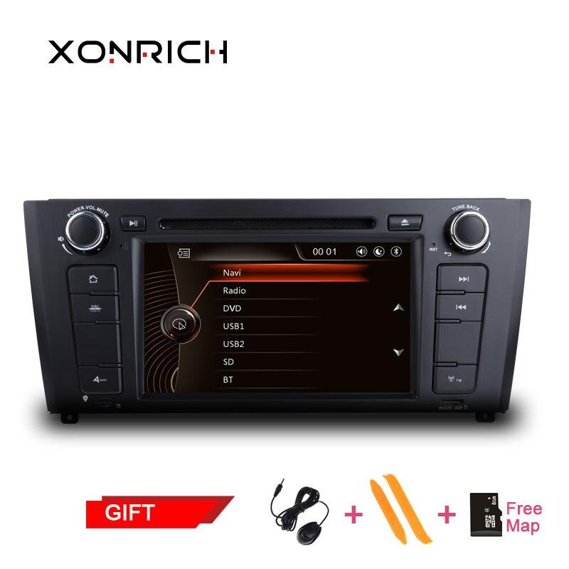1 din AutoRadio lecteur DVD de voiture Headunit GPS Navigation pour BMW 1 série E81 E82 E87 E88 116i 118i stéréo lecteur multimédia automatique