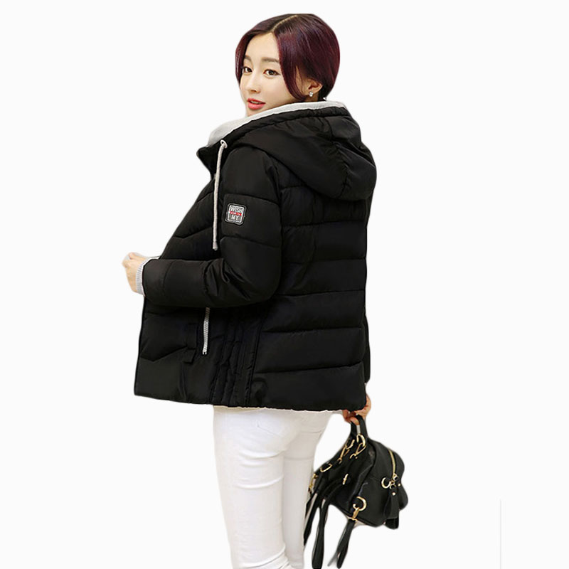 2017 NEW HOT SALE WOMEN AUTUMN WINTER JACKERS SHORT HOODED THICKEN WARM FEMALE PARKAS PL ...