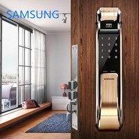 SAMSUNG Fingerprint Digital Door Locks Push Pull Keyless Door Lock SHS DP718 Eurp Big Moritse