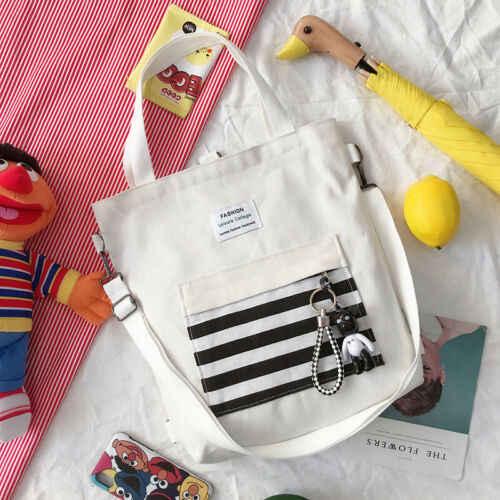 Mulheres Saco de Compras Da Lona de Moda Bolsa de Ombro Mensageiro Satchel Tote Sacos Novos Da Bolsa UK