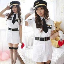 Sexy Cop Officer Costume Policewomen Cosplay Uniform Police Women Fancy Dress Outfit(China)