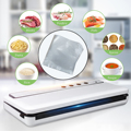 120 Вт автоматические вакуумные герметики для пищевых продуктов, электрическая вакуумная упаковочная машина с 10 упаковочными пакетами, ваку...