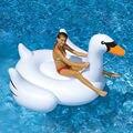 Cisne blanco de Verano Piscina Salón Cisne Flotador Inflable Gigante Piscina Rideable Lago de Agua Juguetes Para Niños