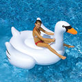 Cisne branco Verão Swimming Pool Lounge Float Rideable Gigante Piscina Inflável Cisne Lago de Água Brinquedos Do Miúdo
