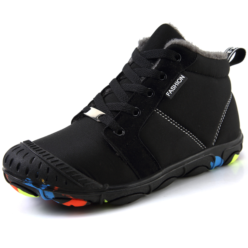 Collision Toe Winter Warm Non-slip Wear-resistant Kids Sneakers Boys Walking Shoes Rubber Outdoor Children Girls Snow Shoe Boots