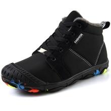 Collision Toe Winter Warm Non-slip Wear-resistant Kids Sneakers Boys Walking Shoes Rubber Outdoor Children Girls Snow Shoe Boots